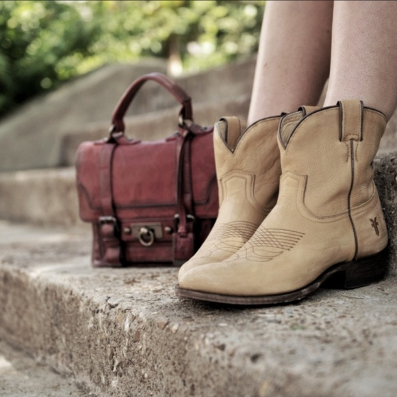bad72ce213a Frye Shoes | Billy Short Western Leather Ankle Boots | Poshmark